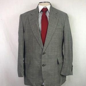 Jos A Bank 44R Glen Check Sport Coat Blazer